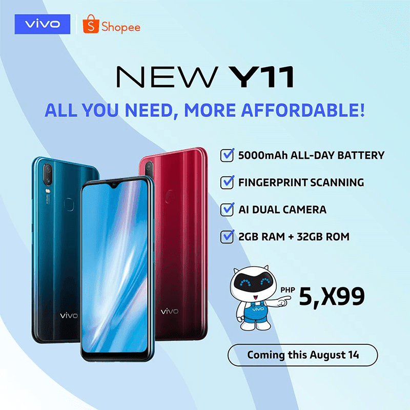 vivo Y11 with more affordable price tag is coming to the Philippines