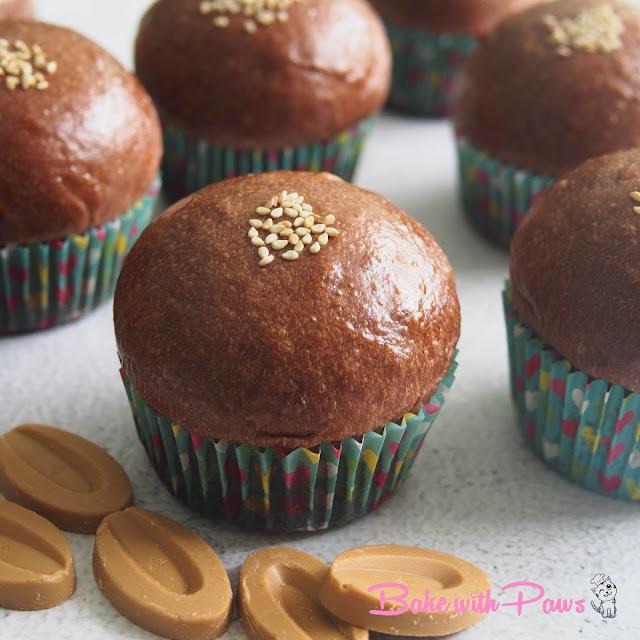 Chocolate Soft Sourdough Buns