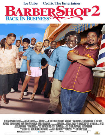 Poster Of Barbershop 2 Back in Business 2004 English 300MB HDTV 480p Free Download Watch Online Worldfree4u