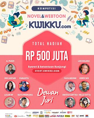 Ubah Gabut Jadi Ngebut #BERKARYADIRUMAHAJA Dengan Mengikuti Kompetisi Novel dan Webtoon Kwikku.com