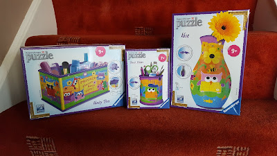 Some of the Ravensburger Funky Owls Girls 3D Puzzle Range
