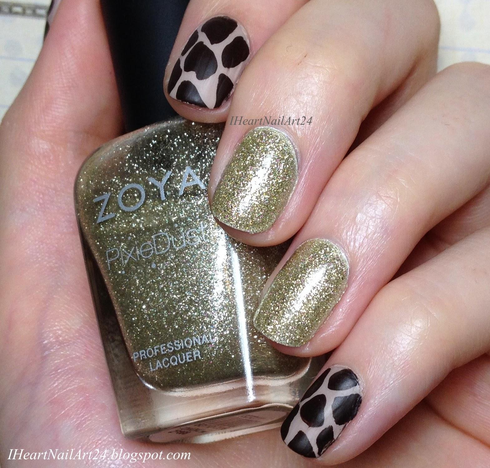Giraffe Print Nail Art | I Heart Nail Art