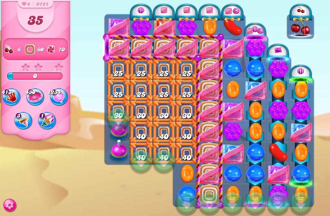 Candy Crush Saga level 9721