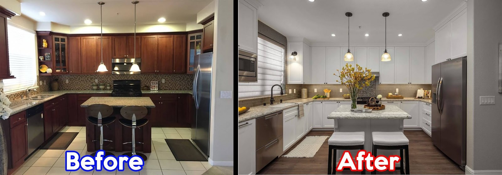 Before And After Open Townhouse Kitchen Remodel In San