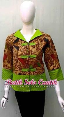 Model Batik Solo Cantik Diyanti Modis Kancing Shanghai