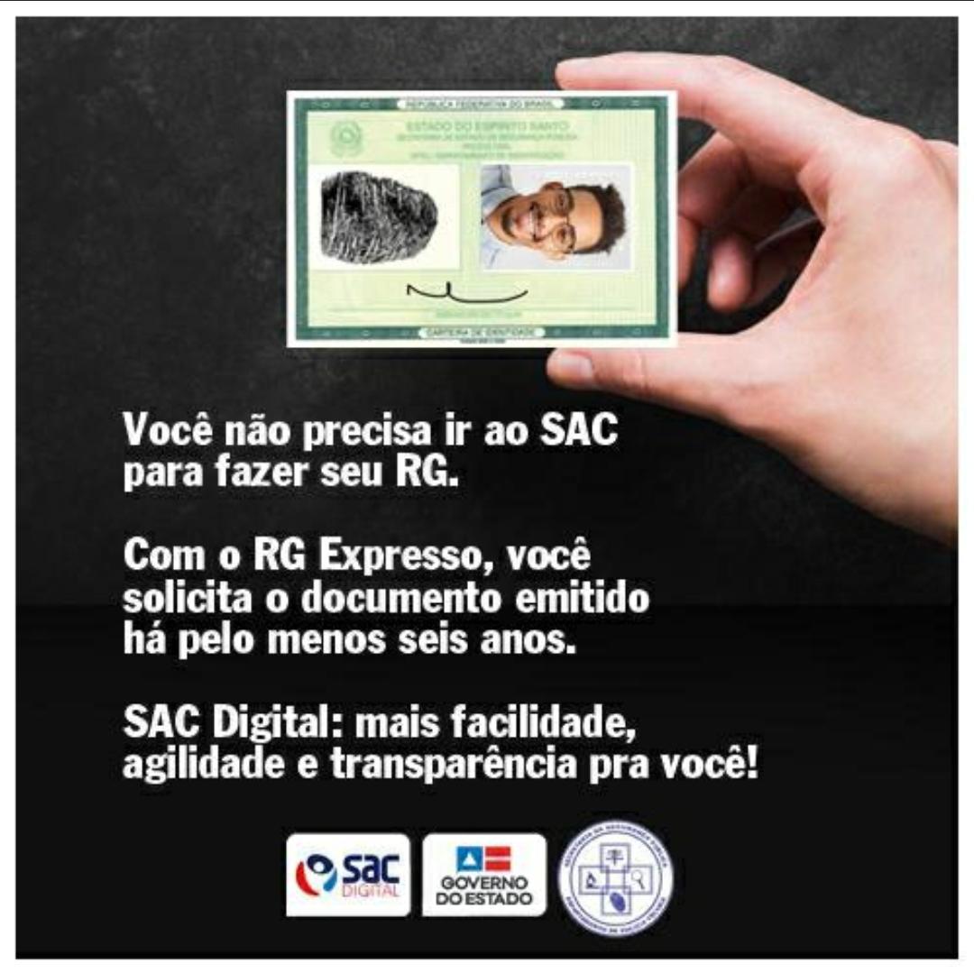 RG digital já poderá ser solicitada pelos Baianos.