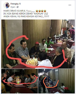 Gunakan Foto 2017, Frengky R Fitnah Tommy Soeharto Biang Kerok Demo RUU HIP