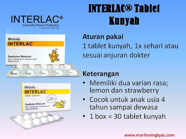 Keterangan Interlac Tablet Kunyah