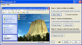 شرح بالصور تغيير شكل الفولدر وخلفية الفولدر والبرطيشن ببرنامج Windowpaper XP
