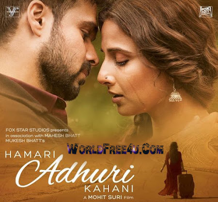 Poster Of Bollywood Movie Hamari Adhuri Kahaani (2015) 175MB Compressed Small Size Mobile Movie Free Download worldfree4u.com