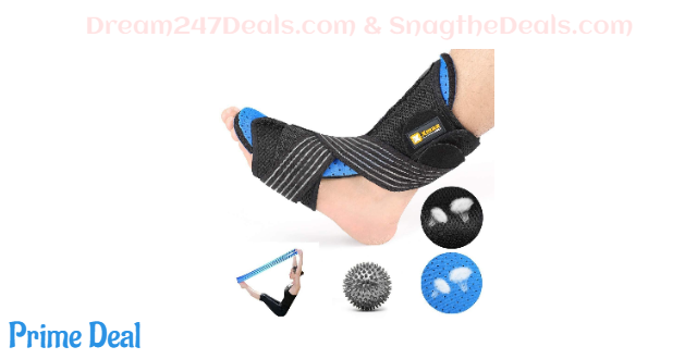 50%OFF Plantar Fasciitis Night Splint Kit - Orthotic Brace Sleep Support Pain Relief from Foot Drop, Tendonitis, Heel, Arch