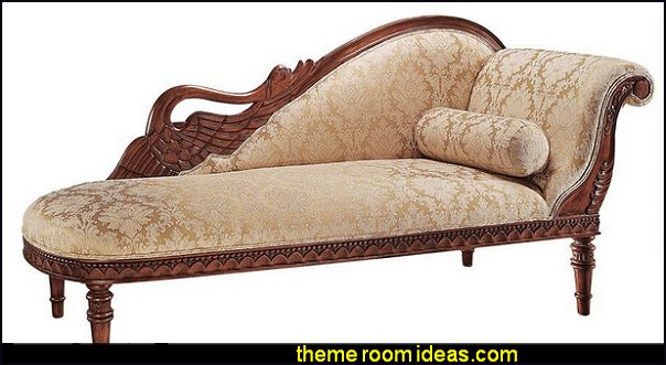 Swan Fainting Couch victorian settee victorian furniture victorian style decorating