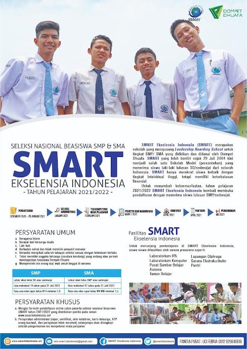 Beasiswa SMP SMA 2021 oleh SMART Ekselensia Indonesia
