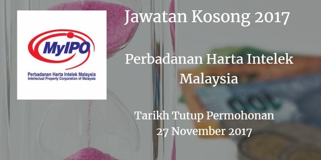 Jawatan Kosong MyIPO 27 November 2017