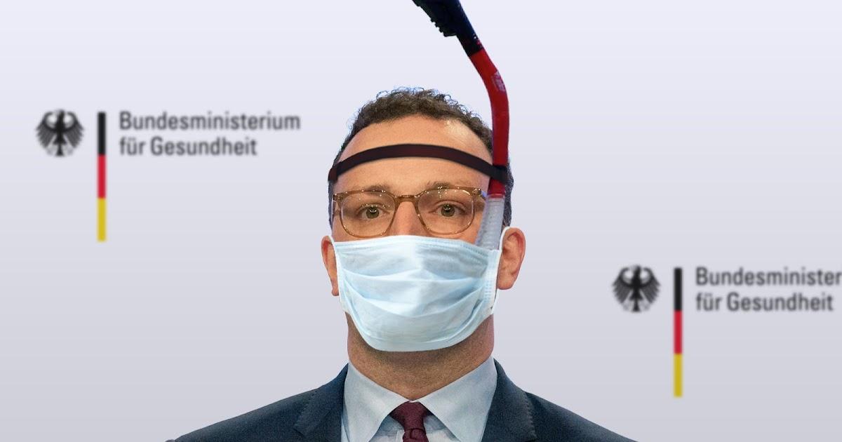 Der Postillon: Spahn will Maskenpflicht erweitern: Schnorchel soll Aerosole  in höhere Luftschicht leiten