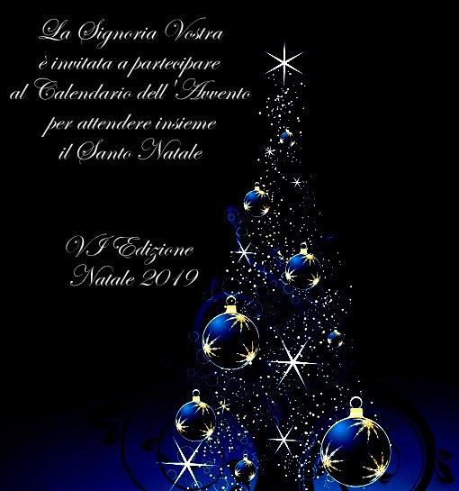Invito al Calendario dell'Avvento Natale 2019