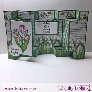 Stamp Set: Glorious Easter  Custom Dies: Double Display Card, Double Display Layers, Rectangles, Scalloped Rectangles, Double Stitched Circles  Paper Collections:  Spring Flowers 2019, Boho Bolds