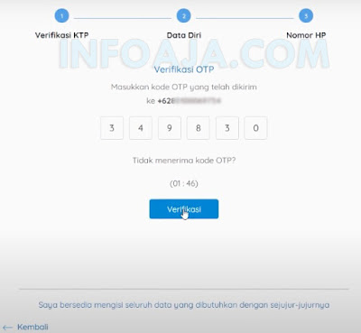 Verifikasi OTP kartu prakerja