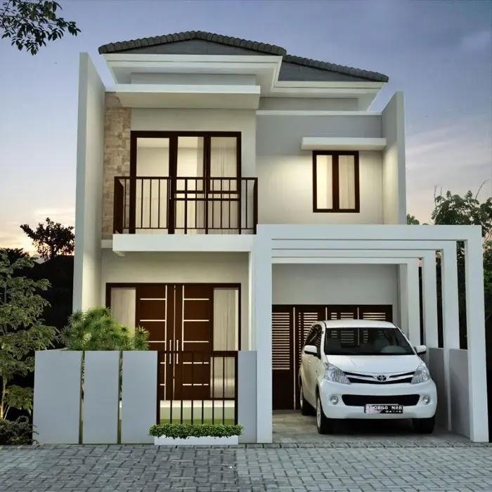 Rekomendasi desain rumah sederhana 6x12 - Tampak Depan