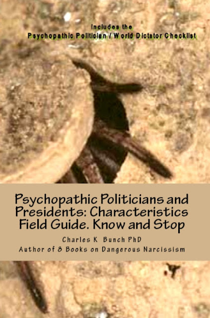 stop them: Political Psychopaths and Donald Trump psychopath bully narcissist books by Charles K Bunch phd at Amazon.com