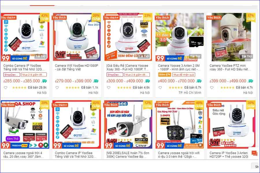 bảng giá camera yoosee - 0974610098
