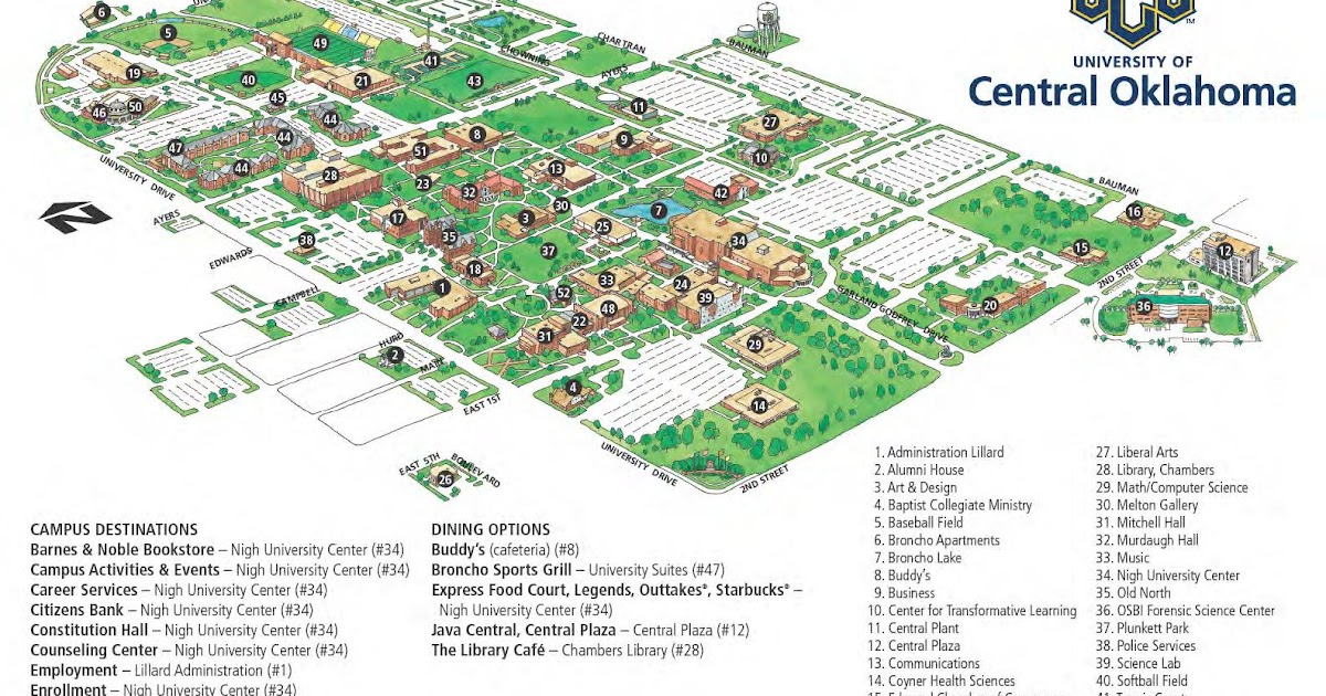 University Of Central Oklahoma Campus Map.Ethical Practice Map