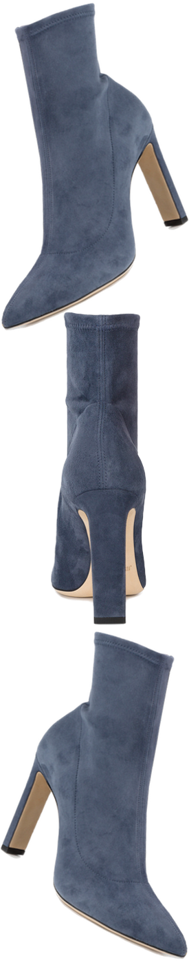 JIMMY CHOO Louella 100 boots in Slate Blue