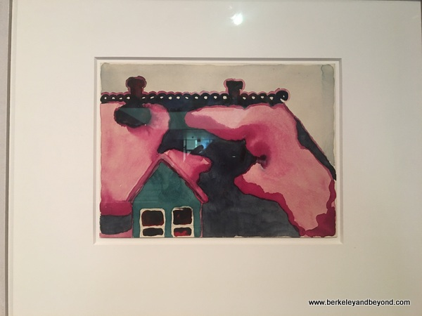 """Roof with Snow"" watercolor by Georgia O'Keeffe at Amarillo Museum of Art in Amarillo, Texas"