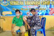 Serbuan Vaksin Covid-19 Serentak, Lanal Tolitoli Sasar Masyarakat Maritim yang Belum Tervaksin