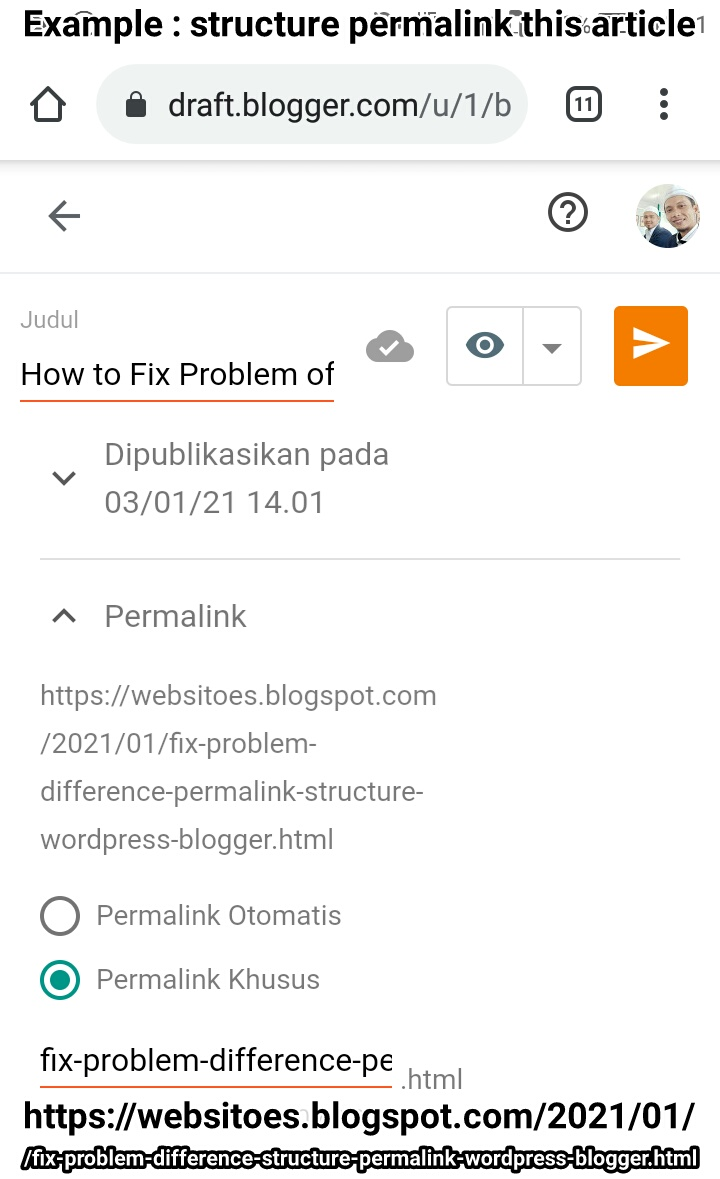 how-to-fix-problem-difference-permalink-structure-wordpress-blogger
