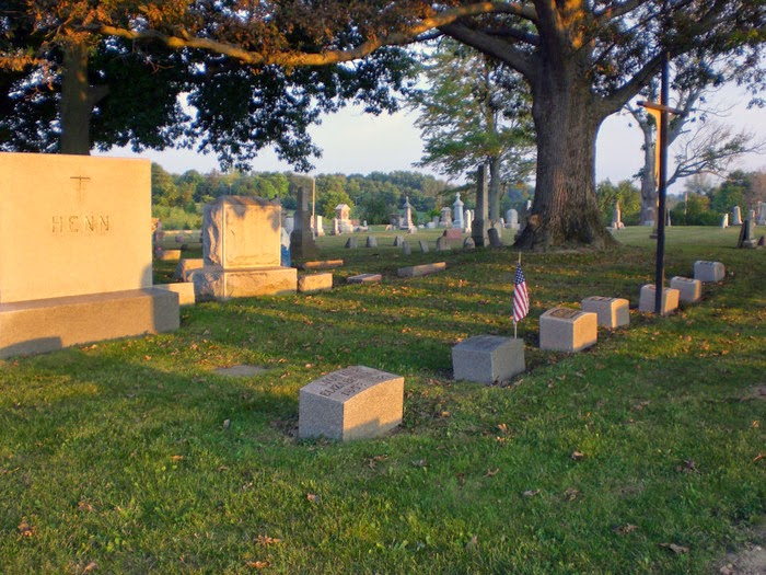 Climbing My Family Tree: Henn Plot at St. Mary's Cemetery, Burnside Michigan