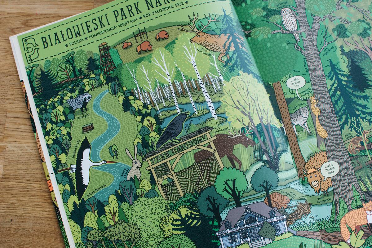 Książka o parkach narodowych