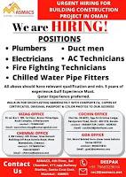 Building construction project Vacancies Oman