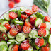 Rustic Tomato and Cucumber Salad - Craving Tasty