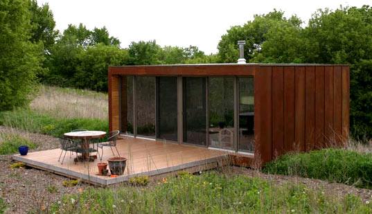 Una peque a casa contenedor de gran calidad casa minimalista - Contenedores casas prefabricadas ...