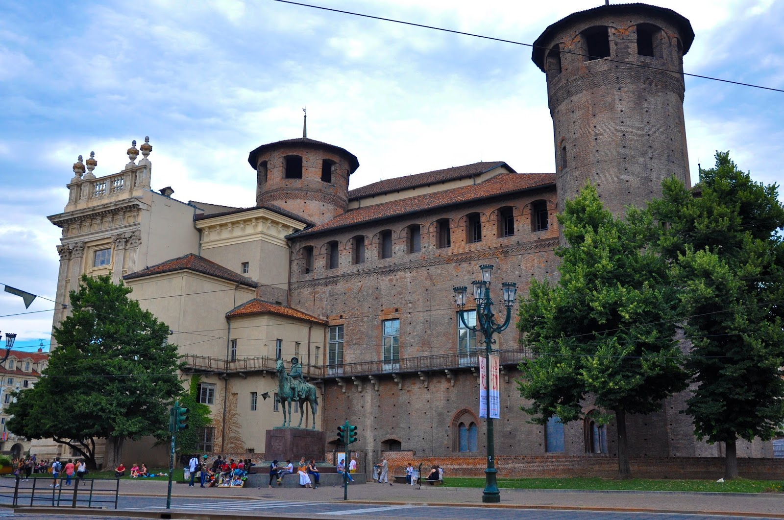 Side view of Palazzo Madama, Turin, Italy