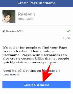 Facebook page ka username change kaise kare 5