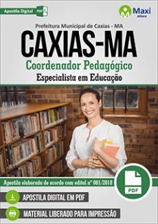 Apostila Concurso Prefeitura de Caxias 2018 Coordenador Pedagógico