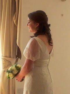 Soft curled wedding hair
