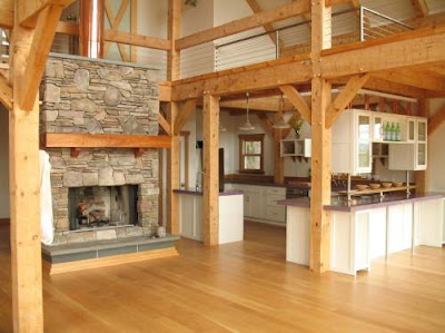 Contoh Desain Interior Rumah Kayu Modern Terbaik