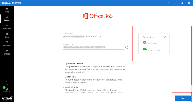 Office 365 Admin ID and Application ID