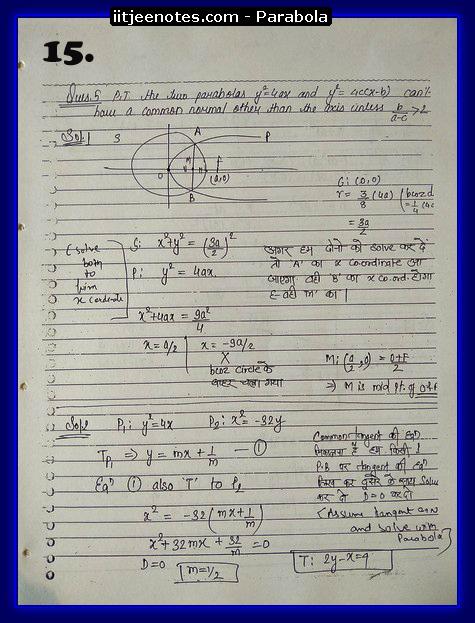 iitjeenotes parabola3
