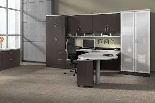 Cutting Edge Office Interior with Global Zira Furniture