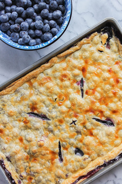 Blueberry Slab Pie | The Chef Next Door #SundaySupper