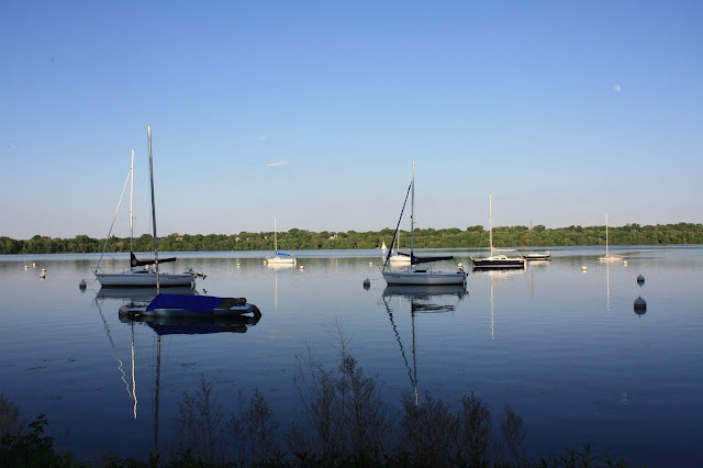 Boats on Lake Harriet in Minneapolis, Minnesota