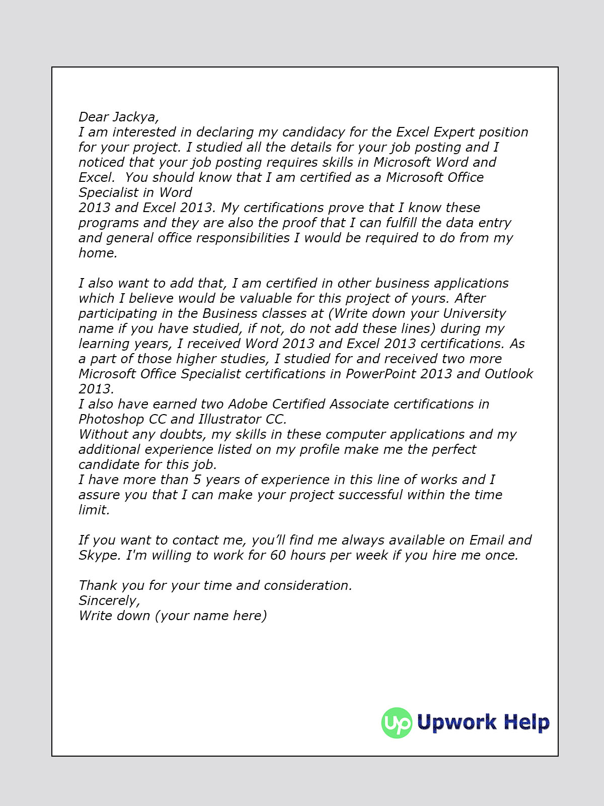 Cover Letter Name Exle   Images  Cover Letter To Human Resources