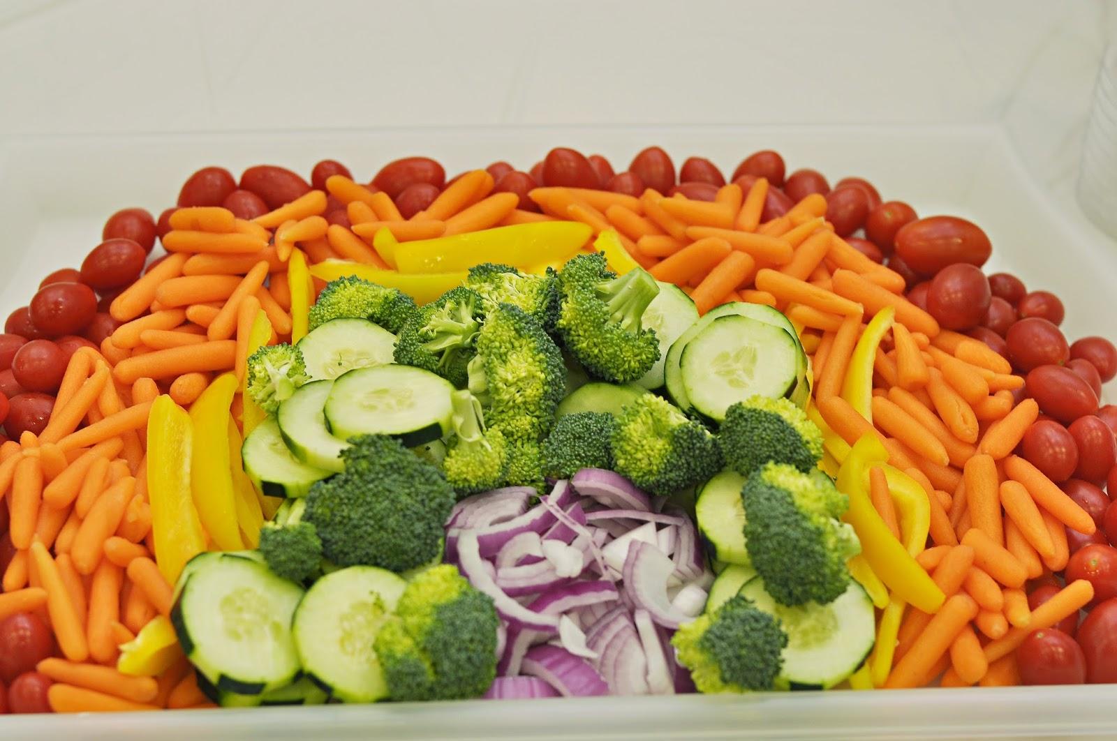 Rainbow Fruit And Veggie Trays