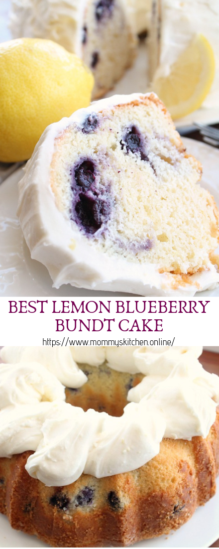BEST LEMON BLUEBERRY BUNDT CAKE #desserts #cakerecipe