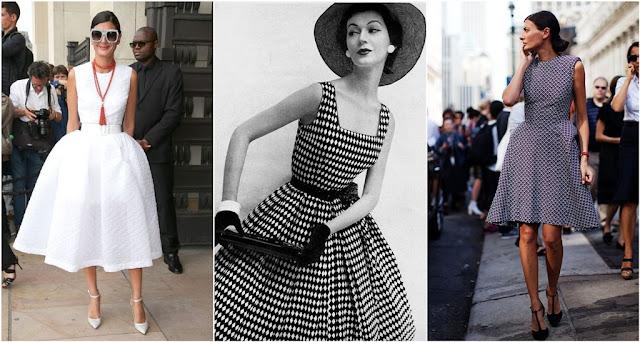abiti stile anni 50