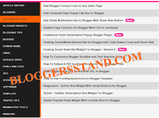 How to  Add Responsive Sitemap/Table of Content In Blogger